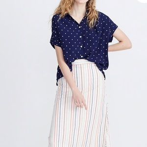 Madewell Central Shirt in Polka Dot